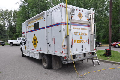 Photo of the Prince George Search & Rescue Society's command vehicle.