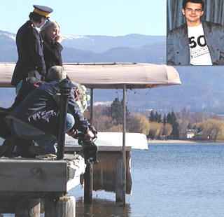 Denise Allan with Constable Heather Mcdonald during last year's visit to Kelowna. It's highly speculated that Charles Horvath's body is in Okanagan Lake. (Photo: Kelly Hayes)