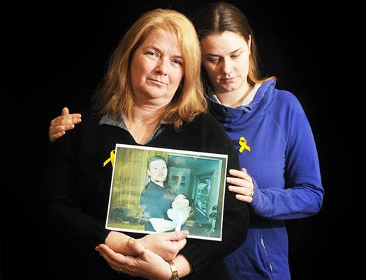 Wes Foulds' sister Jamie Weinberger, and daughter Sarah Foulds are holding a vigil at Hayward Lake, March 1 marking anniversary of his disappearance. - Colleen Flanagan/The News